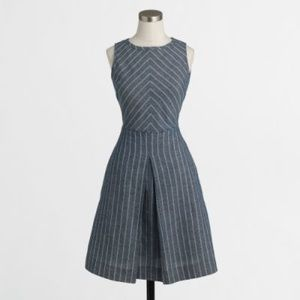 NWOT JCREW Blue and White Chambray Dress